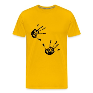 Retro T Shirt With Hand Prints - Men's Premium T-Shirt