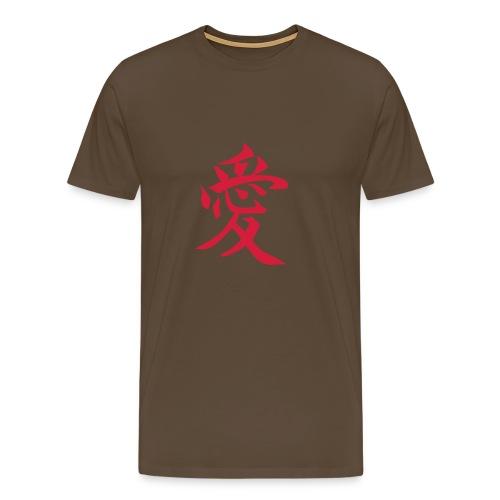 Camiseta Kanji Amor - Camiseta premium hombre