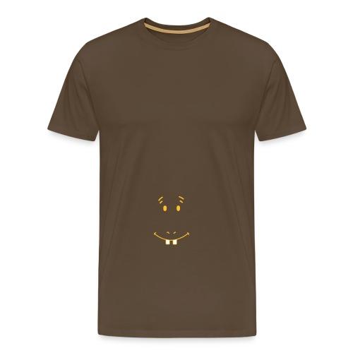 Flode for øl-mage - Premium T-skjorte for menn