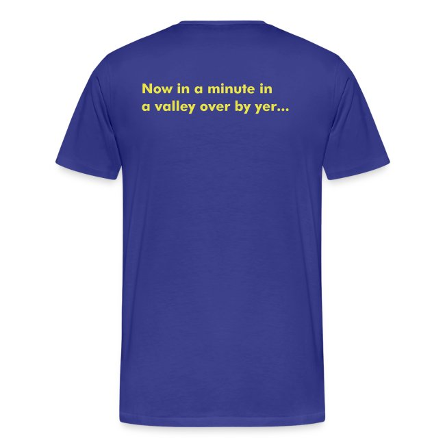 Taff Wars BLUE comfort t-shirt with text on back