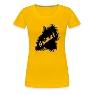 Girlieshirt Heimat Land Baden-Württemberg - Frauen Premium T-Shirt