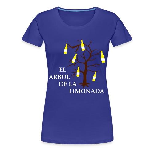 el arbol de la limonada blue-white-brown - girlie - Frauen Premium T-Shirt