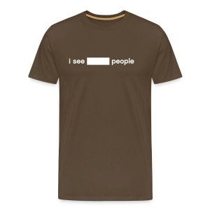 i see BLANK people (write-on) - Men's Premium T-Shirt
