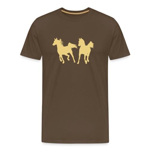 Cowboy-Shirt mit Pferd - Männer Premium T-Shirt
