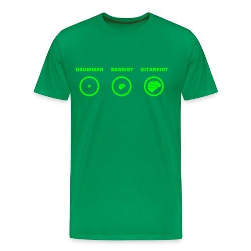 Evolutie van een muziekant - Mannen Premium T-shirt