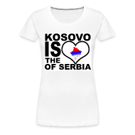 Tee shirts ~ T-shirt Premium Femme ~ Kosovo is the heart of Serbia