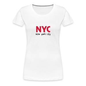 Girlie-Shirt NYC weiß - Frauen Premium T-Shirt