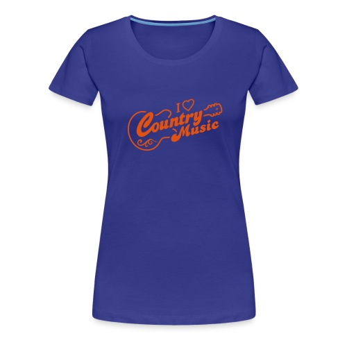 Girlie Shirt I love Country Music - Frauen Premium T-Shirt