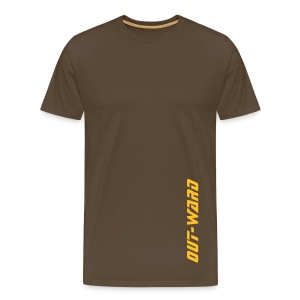 Men's Premium T-Shirt - Simple Brown Out-Ward Tee