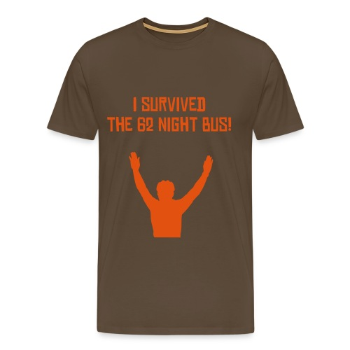 I survived the 62 night bus - Men's Premium T-Shirt