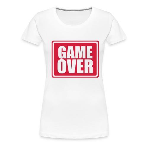 Game Over Girlie - Frauen Premium T-Shirt