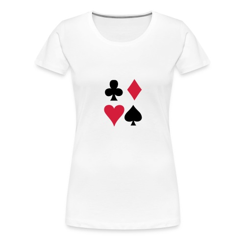 Pokerface - Frauen Premium T-Shirt