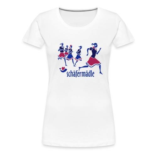 Schäfermädle weiß - Frauen Premium T-Shirt