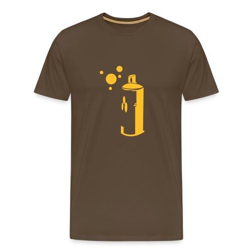 t-shirt marron graf - T-shirt Premium Homme