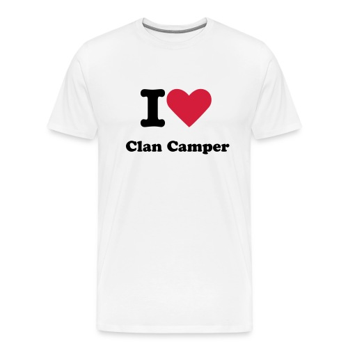 I love Clan campers - Premium T-skjorte for menn