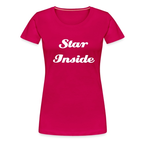 T-Shirt Rose Star Inside - T-shirt Premium Femme