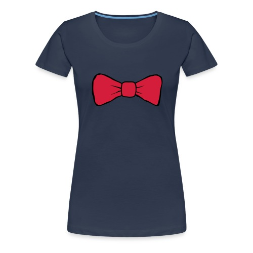 Bow Tie Continental Classic Women's (Navy)  - Women's Premium T-Shirt