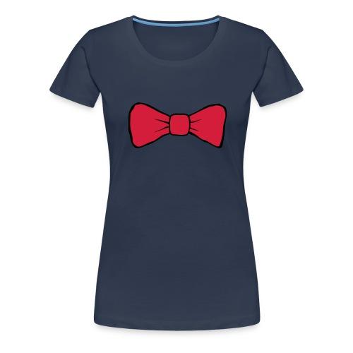 Bow Tie Continental Classic Women's (Navy)  - Women's Premium T-Shirt