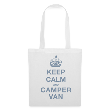White Keep Calm and Campervan Bags