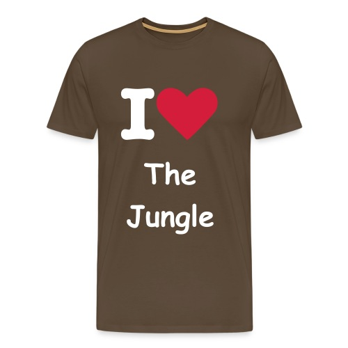 i love the jungle - Mannen Premium T-shirt