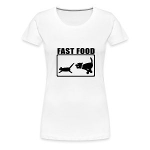 Fun-Girlie Fast Food - Frauen Premium T-Shirt