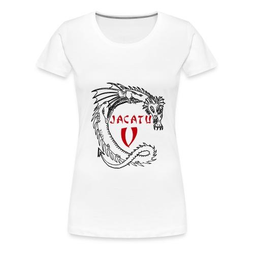 Girlie-Shirt JaCaTu V mit Daten - Frauen Premium T-Shirt