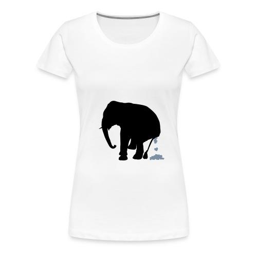 Jumbo Weiss - Frauen Premium T-Shirt