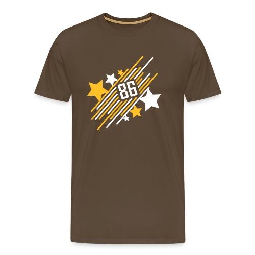 '86 Allstar - Shirt - braun - Männer Premium T-Shirt