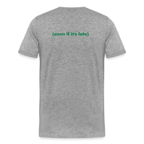 TACKLE T - Grey/Green/Black - Men's Premium T-Shirt