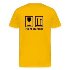 Bei Steinschlag nicht stürzen! - Männer Premium T-Shirt
