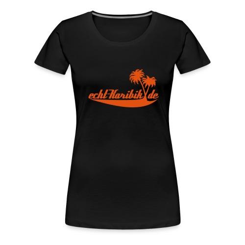 Girlie Shirt in schwarz - Frauen Premium T-Shirt