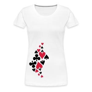 Play your cards right - Premium T-skjorte for kvinner