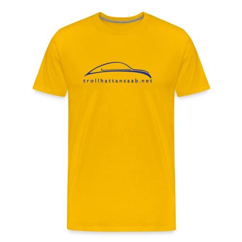 TS Yellow Blu UrSaab tee - Men's Premium T-Shirt
