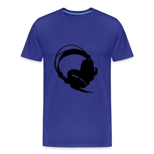 Koptelefoon blauw - Mannen Premium T-shirt