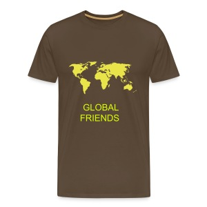 GLOBAL FRIENDS  MEN'S T-SHIRT RANGE - Men's Premium T-Shirt