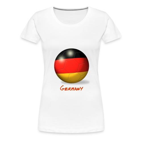 deutschland fussball flagge - Frauen Premium T-Shirt