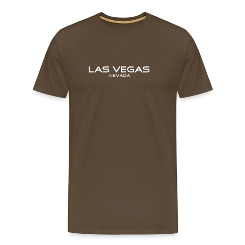 T-Shirt LAS VEGAS, NEVADA braun - Männer Premium T-Shirt