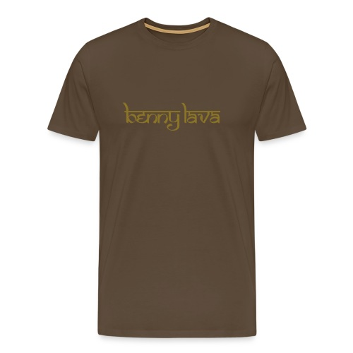 Benny Lava bruin/goud - Mannen Premium T-shirt