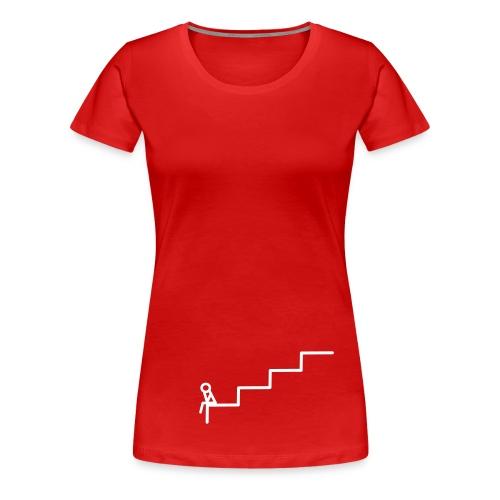 Die Treppe Girlie Rot - Frauen Premium T-Shirt