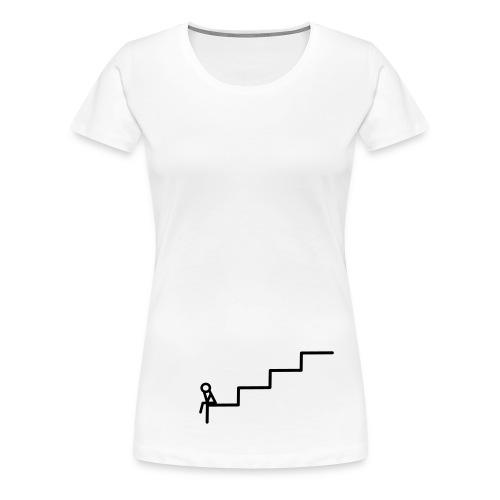 Die Treppe Girlie Weiß - Frauen Premium T-Shirt