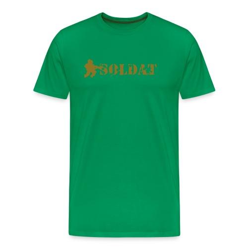 Soldat - gold - Premium-T-shirt herr
