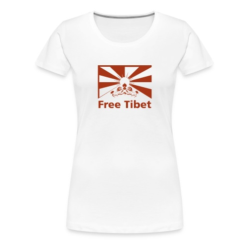 Free Tibet Flag red - Frauen Premium T-Shirt