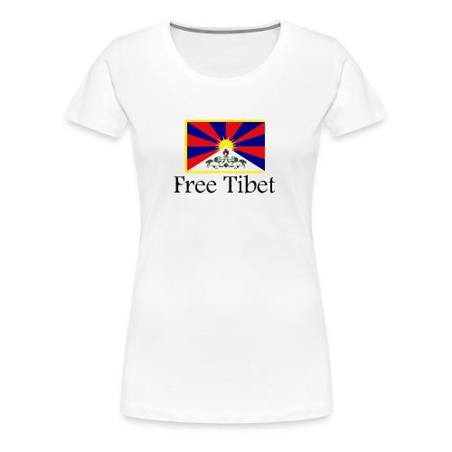 Free Tibet Flag - Frauen Premium T-Shirt
