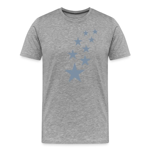 Basic Tshirt, all colours, Silver stars - Men's Premium T-Shirt