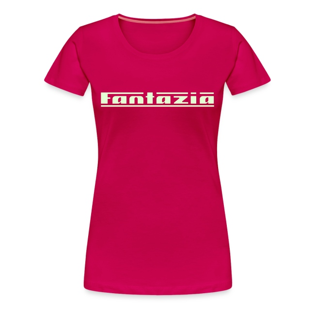 Ladies T-shirt with Fantazia logo to front