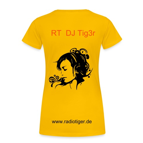 RT - Shirt ( gelb )  - Frauen Premium T-Shirt