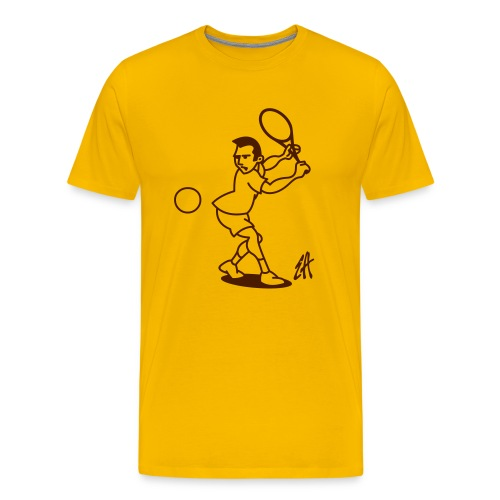 Tenniscourt - Premium-T-shirt herr
