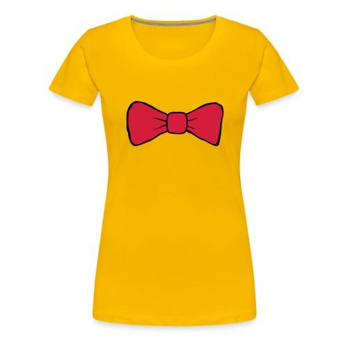 Bow Tie Continental Classic Women's (Yellow)  - Women's Premium T-Shirt
