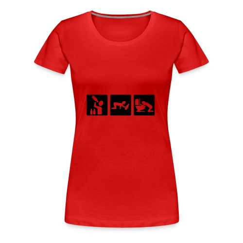 7Live - RedShirt Alkohol - Frauen Premium T-Shirt