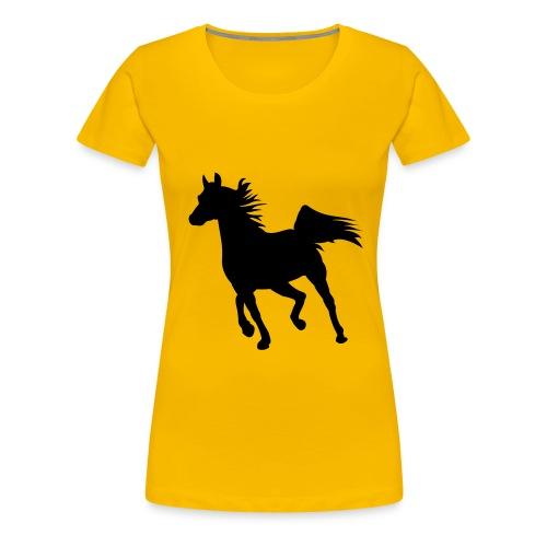 Continental-Girlie-Shirt mit Pferde-Motiv - Frauen Premium T-Shirt